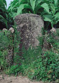 有家町尾上のキリシタン墓碑