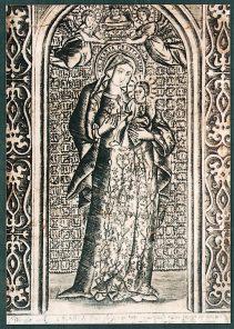 銅版画「セビリアの聖母」