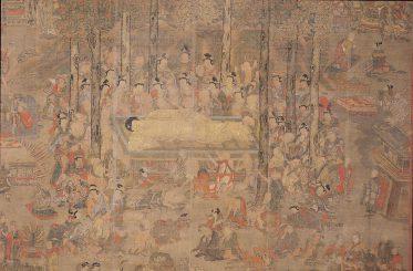 絹本著色仏涅槃図一幅