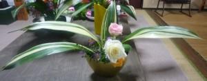ハランを用いた生け花